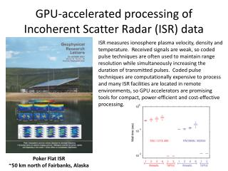 GPU-accelerated processing of Incoherent Scatter Radar (ISR) data