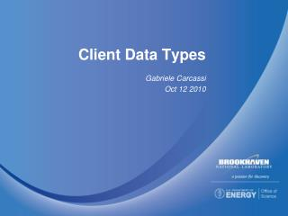 Client Data Types