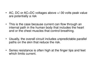 AC, DC or ACDC voltages above