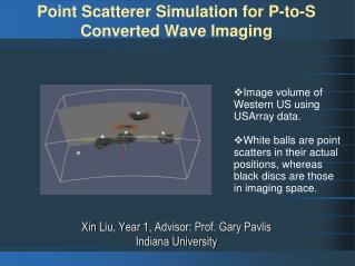 Point  Scatterer Simulation  for P-to-S Converted Wave Imaging