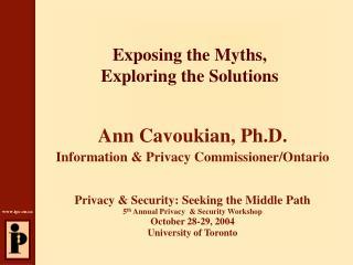 Exposing the Myths