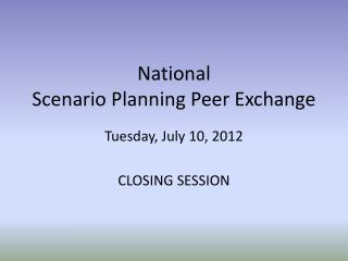 National  Scenario Planning Peer Exchange