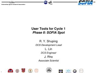 User Tools for Cycle 1 Phase II: SOFIA Spot