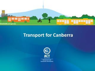 Transport for Canberra