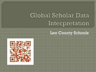 Global Scholar Data Interpretation