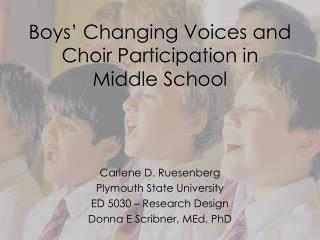 Boys' Changing Voices and Choir Participation in Middle School