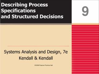 Describing Process Specifications and Structured Decisions