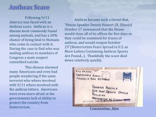 Anthrax Scare