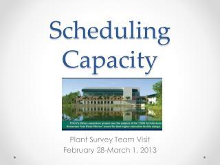 Scheduling Capacity