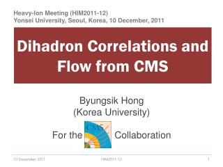 Dihadron  Correlations and Flow from CMS