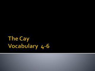 The Cay Vocabulary  4-6