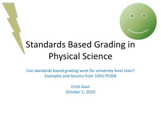 Standards Based Grading in Physical Science