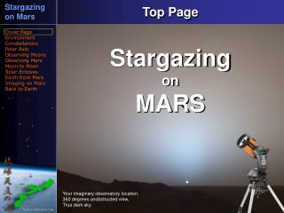 Stargazing on Mars Cover Page