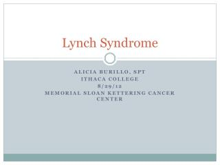Lynch Syndrome