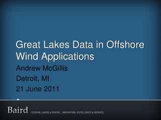 Great Lakes Data in Offshore Wind Applications