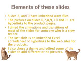 Elements of these slides