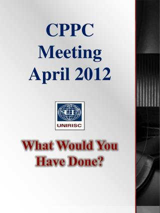 CPPC Meeting April 2012