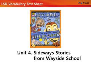 LSD  Vocabulary Test Sheet