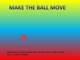 MAKE THE BALL MOVE