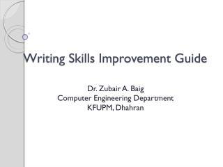Writing Skills Improvement Guide