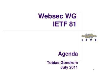 Agenda  Tobias Gondrom July 2011