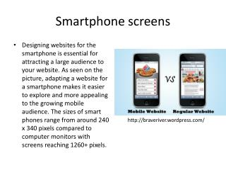 Smartphone screens