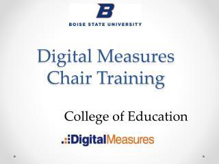 Digital Measures Chair Training