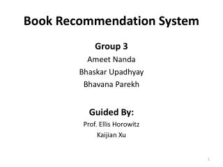 Book Recommendation System