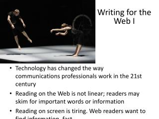 Writing for the Web I
