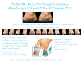 The Cool Way To Lose Fat Through Cool Sculpting