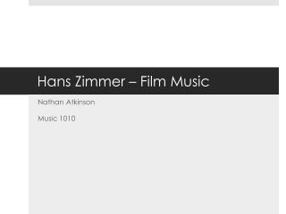 Hans Zimmer – Film Music