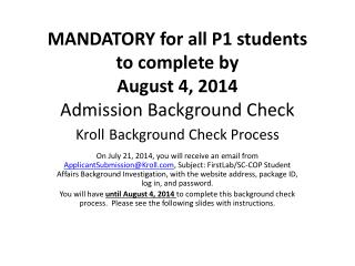 Kroll Background Check Process