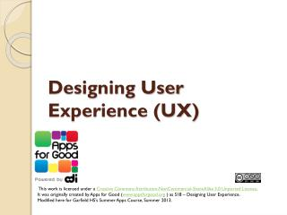 Designing User Experience (UX)