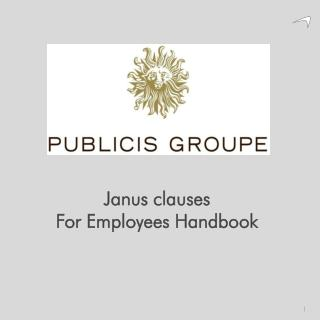 Janus clauses For  Employees Handbook