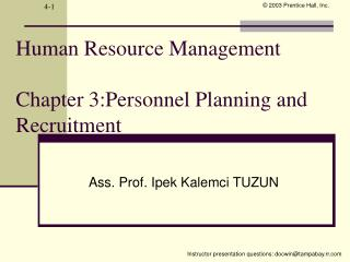 Human Resource Management  Chapter 3:Personnel Planning and Recruitment