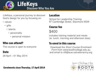 LifeKeys Discover Who You Are