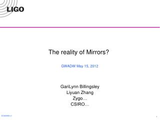 The reality of Mirrors?