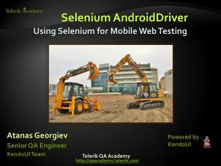 Selenium AndroidDriver