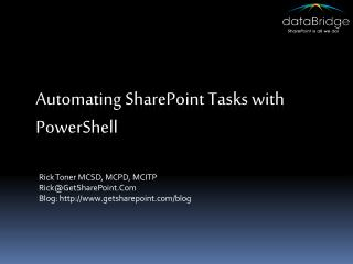 Automating SharePoint Tasks with  PowerShell