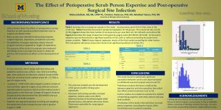 The Effect of Perioperative Scrub Person Expertise and Post-operative Surgical Site Infection