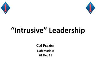 """Intrusive"" Leadership"