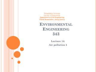 Environmental  Engineering  343