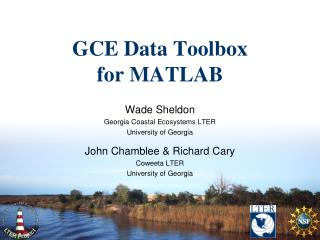 GCE Data Toolbox for MATLAB
