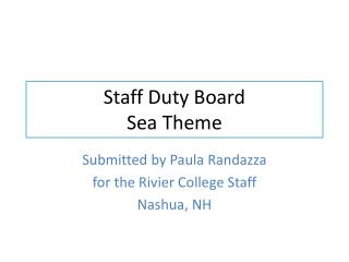 Staff Duty Board Sea Theme