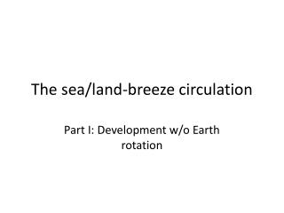 The sea/land-breeze circulation