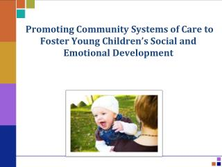 Promoting Community Systems of Care to Foster Young Children's Social and Emotional Development