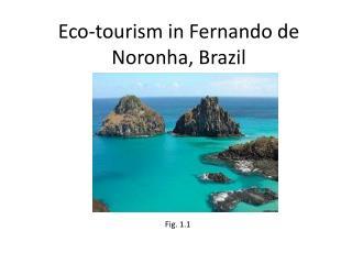 Eco-tourism in Fernando de Noronha, Brazil