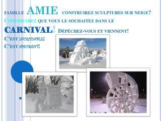 LANA Sculptures Sur Neige