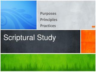 Scriptural Study