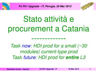 Px  Ph1 Upgrade - IT, Perugia, 26 Mar 2012